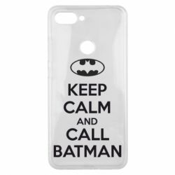Чехол для Xiaomi Mi8 Lite KEEP CALM and CALL BATMAN