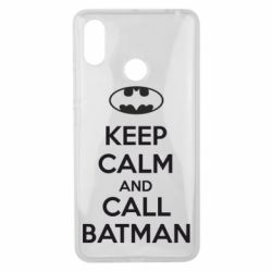 Чехол для Xiaomi Mi Max 3 KEEP CALM and CALL BATMAN