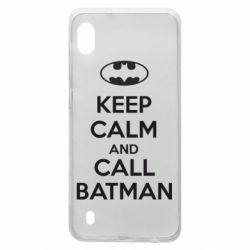 Чехол для Samsung A10 KEEP CALM and CALL BATMAN
