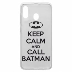 Чехол для Samsung A20 KEEP CALM and CALL BATMAN