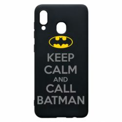 Чехол для Samsung A30 KEEP CALM and CALL BATMAN