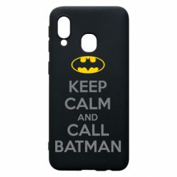 Чехол для Samsung A40 KEEP CALM and CALL BATMAN