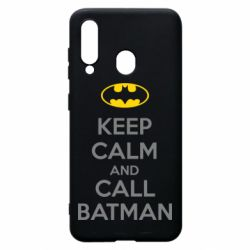Чехол для Samsung A60 KEEP CALM and CALL BATMAN
