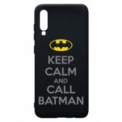 Чехол для Samsung A70 KEEP CALM and CALL BATMAN