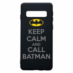Чехол для Samsung S10 KEEP CALM and CALL BATMAN