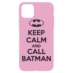 Чехол для iPhone 11 Pro Max KEEP CALM and CALL BATMAN