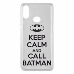 Чехол для Samsung A10s KEEP CALM and CALL BATMAN