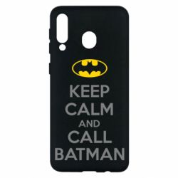 Чехол для Samsung M30 KEEP CALM and CALL BATMAN