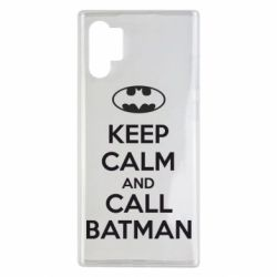 Чехол для Samsung Note 10 Plus KEEP CALM and CALL BATMAN