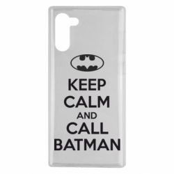 Чехол для Samsung Note 10 KEEP CALM and CALL BATMAN