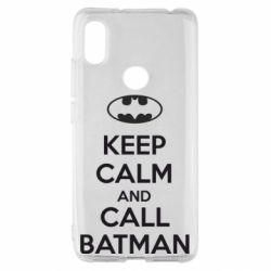 Чехол для Xiaomi Redmi S2 KEEP CALM and CALL BATMAN