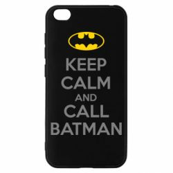 Чехол для Xiaomi Redmi Go KEEP CALM and CALL BATMAN