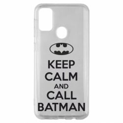 Чехол для Samsung M30s KEEP CALM and CALL BATMAN