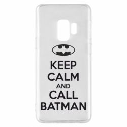 Чехол для Samsung S9 KEEP CALM and CALL BATMAN