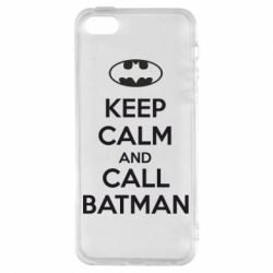 Чехол для iPhone5/5S/SE KEEP CALM and CALL BATMAN