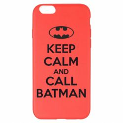 Чехол для iPhone 6 Plus/6S Plus KEEP CALM and CALL BATMAN