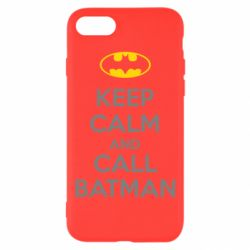 Чехол для iPhone 7 KEEP CALM and CALL BATMAN