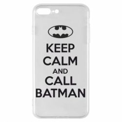 Чехол для iPhone 8 Plus KEEP CALM and CALL BATMAN