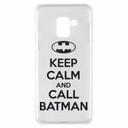 Чехол для Samsung A8 2018 KEEP CALM and CALL BATMAN
