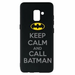 Чехол для Samsung A8+ 2018 KEEP CALM and CALL BATMAN
