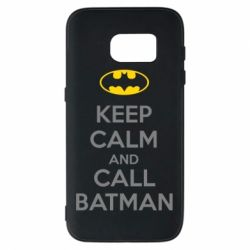 Чехол для Samsung S7 KEEP CALM and CALL BATMAN