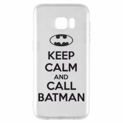 Чехол для Samsung S7 EDGE KEEP CALM and CALL BATMAN