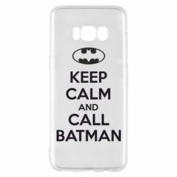 Чехол для Samsung S8 KEEP CALM and CALL BATMAN
