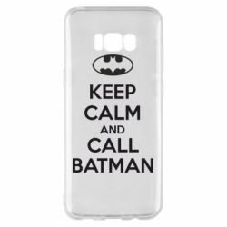 Чехол для Samsung S8+ KEEP CALM and CALL BATMAN