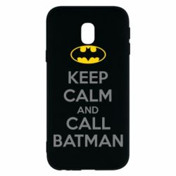 Чехол для Samsung J3 2017 KEEP CALM and CALL BATMAN