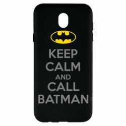 Чехол для Samsung J7 2017 KEEP CALM and CALL BATMAN