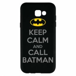 Чехол для Samsung A7 2017 KEEP CALM and CALL BATMAN