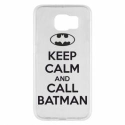 Чехол для Samsung S6 KEEP CALM and CALL BATMAN
