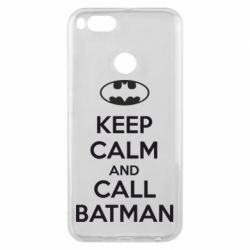 Чехол для Xiaomi Mi A1 KEEP CALM and CALL BATMAN