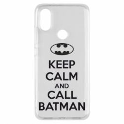 Чехол для Xiaomi Mi A2 KEEP CALM and CALL BATMAN