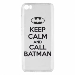 Чехол для Xiaomi Mi5/Mi5 Pro KEEP CALM and CALL BATMAN