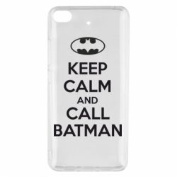 Чехол для Xiaomi Mi 5s KEEP CALM and CALL BATMAN