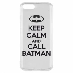 Чехол для Xiaomi Mi6 KEEP CALM and CALL BATMAN