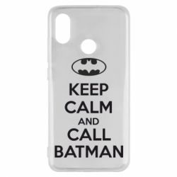 Чехол для Xiaomi Mi8 KEEP CALM and CALL BATMAN