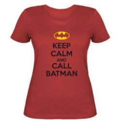 Женская футболка KEEP CALM and CALL BATMAN - FatLine
