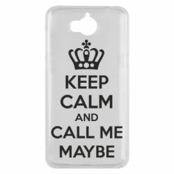 Чехол для Huawei Y5 2017 KEEP CALM and CALL ME MAYBE - FatLine