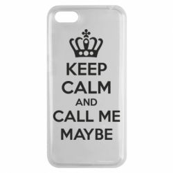 Чехол для Huawei Y5 2018 KEEP CALM and CALL ME MAYBE - FatLine