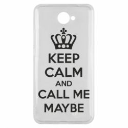 Чехол для Huawei Y7 2017 KEEP CALM and CALL ME MAYBE - FatLine
