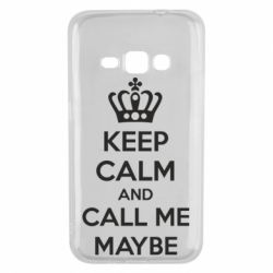 Чехол для Samsung J1 2016 KEEP CALM and CALL ME MAYBE
