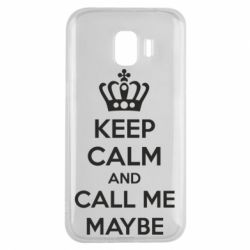 Чехол для Samsung J2 2018 KEEP CALM and CALL ME MAYBE