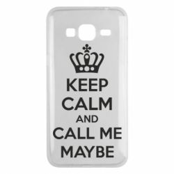 Чехол для Samsung J3 2016 KEEP CALM and CALL ME MAYBE