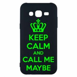 Чехол для Samsung J5 2015 KEEP CALM and CALL ME MAYBE