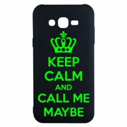 Чехол для Samsung J7 2015 KEEP CALM and CALL ME MAYBE