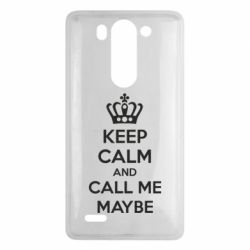 Чехол для LG G3 mini/G3s KEEP CALM and CALL ME MAYBE - FatLine