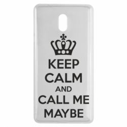 Чехол для Nokia 3 KEEP CALM and CALL ME MAYBE - FatLine