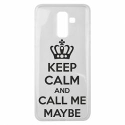 Чехол для Samsung J8 2018 KEEP CALM and CALL ME MAYBE